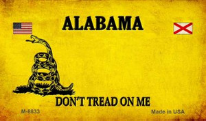 Alabama Do Not Tread Wholesale Aluminum Magnet M-8833