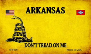 Arkansas Do Not Tread Wholesale Aluminum Magnet M-8836