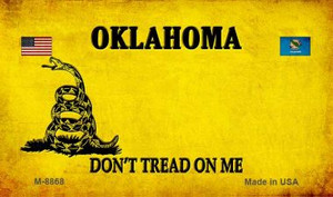 Oklahoma Do Not Tread Wholesale Aluminum Magnet M-8868