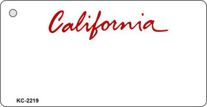 California Blank Background Wholesale Aluminum Key Chain KC-2219