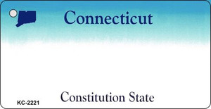 Connecticut Blank Background Wholesale Aluminum Key Chain KC-2221