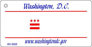 Washington DC Blank Background Wholesale Aluminum Key Chain KC-2222