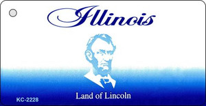 Illinois Blank Background Wholesale Aluminum Key Chain KC-2228