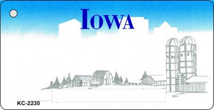 Iowa Blank Background Wholesale Aluminum Key Chain KC-2230