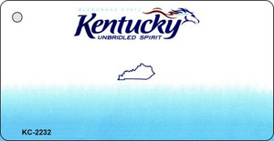 Kentucky Blank Background Wholesale Aluminum Key Chain KC-2232