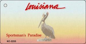 Louisiana Blank Background Wholesale Aluminum Key Chain KC-2233