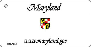 Maryland Blank Background Wholesale Aluminum Key Chain KC-2235