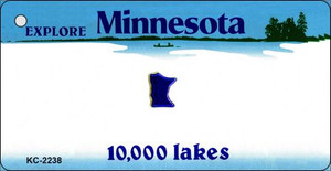 Minnesota Blank Background Wholesale Aluminum Key Chain KC-2238
