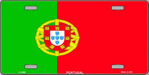 Portugal Flag Wholesale Metal Novelty License Plate LP-4069