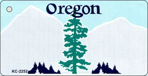 Oregon Blank Background Wholesale Aluminum Key Chain KC-2252