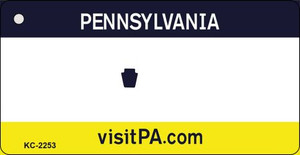 Pennsylvania Blank Background Wholesale Aluminum Key Chain KC-2253