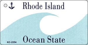 Rhode Island Blank Background Wholesale Aluminum Key Chain KC-2254