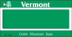 Vermont Blank Background Wholesale Aluminum Key Chain KC-2260