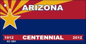 Arizona Centennial Blank Background Wholesale Aluminum Key Chain KC-1801