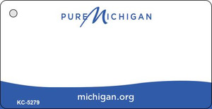 Michigan Blank Background Wholesale Aluminum Key Chain KC-5279
