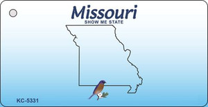 Missouri Blank Background Wholesale Aluminum Key Chain KC-5331
