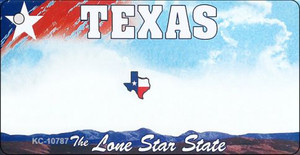 Texas Blank Background Wholesale Aluminum Key Chain KC-10787
