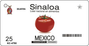 Sinaloa Blank Background Wholesale Aluminum Key Chain KC-4790