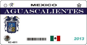 Aguascalientes Blank Background Wholesale Aluminum Key Chain KC-4811