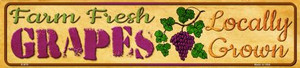 Farm Fresh Grapes Wholesale Small Street Signs K-675