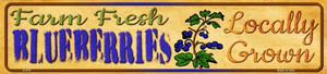 Farm Fresh Blueberries Wholesale Small Street Signs K-676