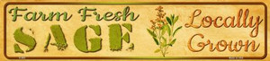 Farm Fresh Sage Wholesale Small Street Signs K-682