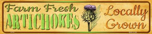 Farm Fresh Artichokes Wholesale Small Street Signs K-712