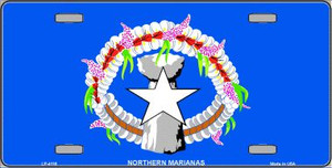 Northern Marianas Flag Wholesale Metal Novelty License Plate LP-4116