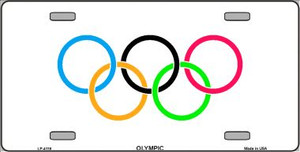 Olympic Flag Wholesale Metal Novelty License Plate LP-4118