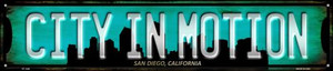 San Diego California City in Motion Wholesale Novelty Metal Street Sign ST-1246