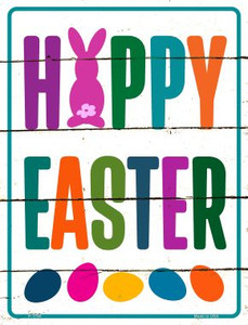 Happy Easter with Eggs Wholesale Novelty Parking Sign P-1760