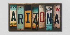 Arizona Wholesale Novelty License Plate Strips Wood Sign