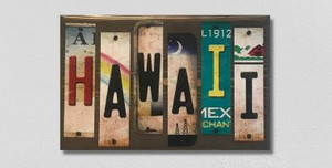 Hawaii Wholesale Novelty License Plate Strips Wood Sign