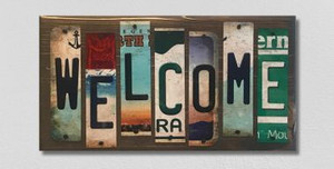 Welcome Wholesale Novelty License Plate Strips Wood Sign WS-039