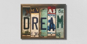 Dream Wholesale Novelty License Plate Strips Wood Sign