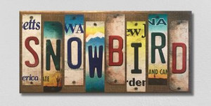 Snowbird Wholesale Novelty License Plate Strips Wood Sign
