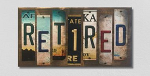 Retired Wholesale Novelty License Plate Strips Wood Sign