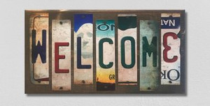 Welcome Wholesale Novelty License Plate Strips Wood Sign