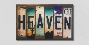 Heaven Wholesale Novelty License Plate Strips Wood Sign