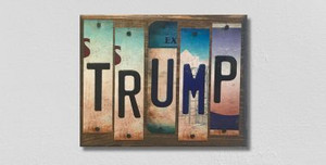 Trump Wholesale Novelty License Plate Strips Wood Sign