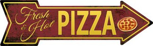 Fresh and Hot Pizza Wholesale Novelty Metal Arrow Sign A-407