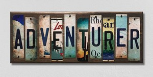 Adventurer Wholesale Novelty License Plate Strips Wood Sign