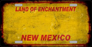 New Mexico Rusty Blank Wholesale Novelty License Plate LP-11716