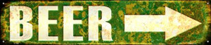 Beer to the Right Wholesale Novelty Metal Street Sign ST-1305