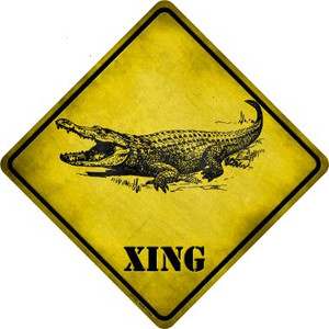 Alligator Xing Wholesale Novelty Crossing Sign