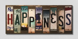 Happiness Wholesale Novelty License Plate Strips Wood Sign