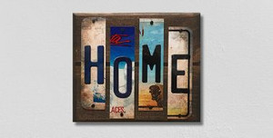 Home Wholesale Novelty License Plate Strips Wood Sign