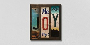 Joy Wholesale Novelty License Plate Strips Wood Sign