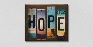Hope Wholesale Novelty License Plate Strips Wood Sign