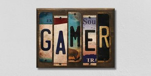 Gamer Wholesale Novelty License Plate Strips Wood Sign WS-116